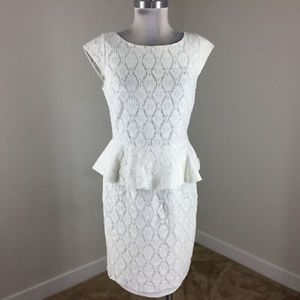 Beautiful Adrianna Papell Peplum Dress